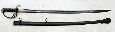 US Model 1833 DRAGOON SWORD w/ Scabbard NP AMES CUTLERY 1837 Militaria