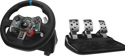 Logitech - G29 Driving Force Racing Wheel and Floor Pedals for PS5, PS4, PC, ...