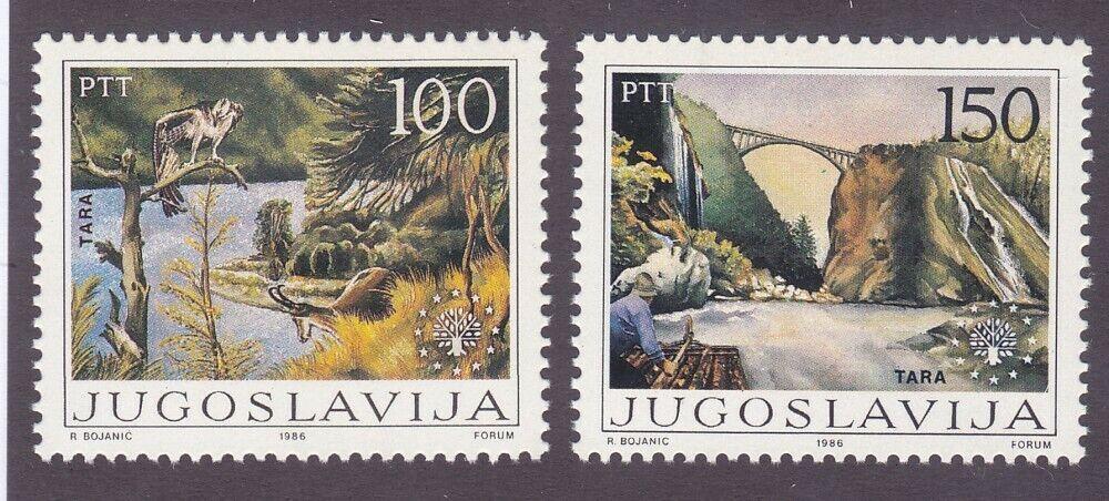 Yugoslavia 1774-75 MNH 1986 European Nature Protection Set Very Fine