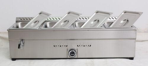 4-Pan LP GAS Food Warmer Keeping Food Equipment w/Decompression Valve 190306