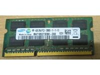 Samsung 4GB RAM Memory (DDR3-8500) Laptop Memory