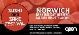 *HALF PRICE* Two Sunday afternoon sessions for Norwich Sushi and Saki festival.