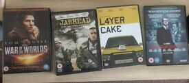 DVD's (Jarhead, Tinker Tailor Solider Spy, L4yer Cake (Layer Cake) & War Of The Worlds)