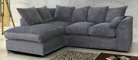 Corner Fabric Cord Sofa