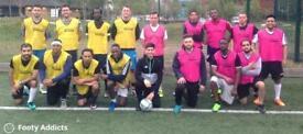 Play friendly 8 a side football games in Leyton