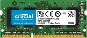 NEW Crucial 4GB Single DDR3/DDR3L 1600 MT/S (PC3-12800) Unbuffered SODIMM 204