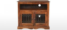 Jali Sheesham Square TV Cabinet