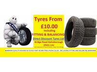 TYRES TYRES TYRES - BEST PRICES IN THE AREA - FREE FITTING - 175 185 195 205 55 60 65 14 15 16 17 18
