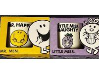 Brand new in box Mr happy & little miss naughty mugs