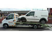 Small van and car transport and recovery