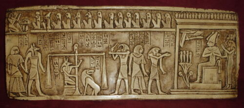 Ancient Egyptian Anubis Judgement Day Wall Sculpture