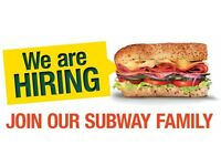 Subway Sandwich Artist - Team Member - Daytime/Late Nights/Part Time/Fulll Time/Openers/Closers