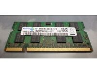Brand New - 2GB Samsung Laptop RAM memory DDR2 - Brand New in Box, Perfect condition & fully working