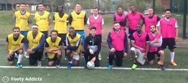 Play friendly 8 a side football game every Friday at 7pm in Leyton