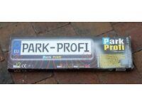 Number plate mounted parking sensor