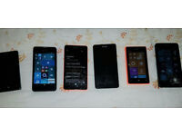 JOB LOT OF NON-WORKING/FAULTY MOBILE PHONES x 6