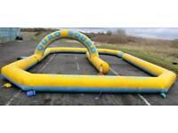 Inflatable quad bike track