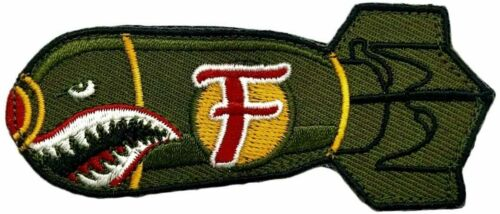 """Dropping F Bomb WW 2 Style Hook Patch [3.5 inch -""""Velcro Brand"""" Fastener- MTF1)"""