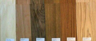 Domestic Wood Veneer Pack Maple Oak Walnut Mahogany Cherry Teak 20 Pieces