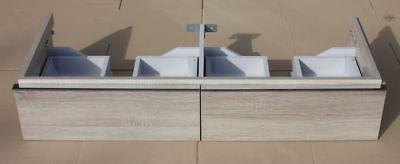 Keramag iCon Waschtischunterschrank für Doppelwaschtisch Eiche Natur 1190mm