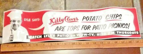 Kitty Clover Potato Chips Paper Advertisement Sign