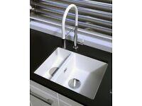 Pure Quartz 1.5 Bowl sink and tap