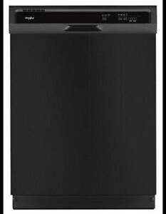 "24"" Whirlpool Built-In Dishwasher in black WDF330PAHB  (BD-1002)"