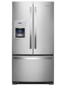 "Whirlpool® 35"" wide Counter-Depth French Door Refrigerator WRF550CDHZ (MP_195)"