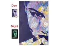 Stunning face high quality canvas - glows in the dark