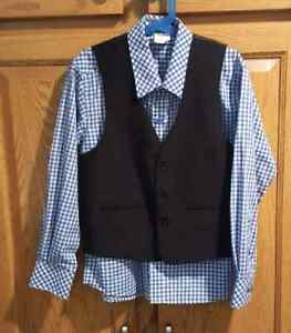 Boy's  Vest and Shirt Size 12