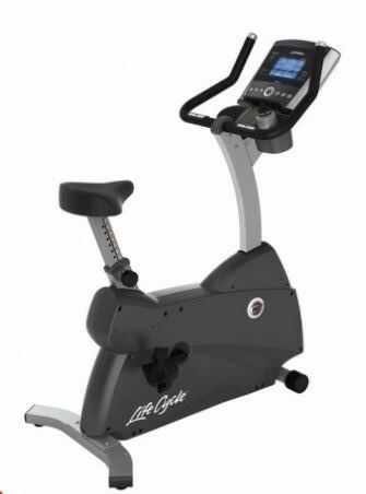 Life Fitness C3 Upright Lifecycle Exercise Bike with Go Console