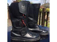 Ladies Frank Thomas Black Leather Aqua Biking Boots, UK Size 5