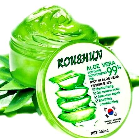 organic aloe vera gel soothing moisturizer cream