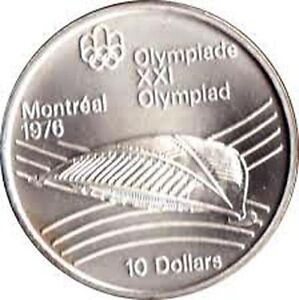 1976 Olympic  $ 10 silver coin