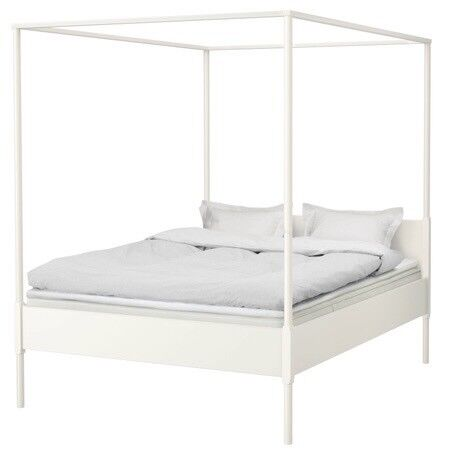 Ikea Edland White 4 Poster Bed In Keyworth Nottinghamshire Gumtree