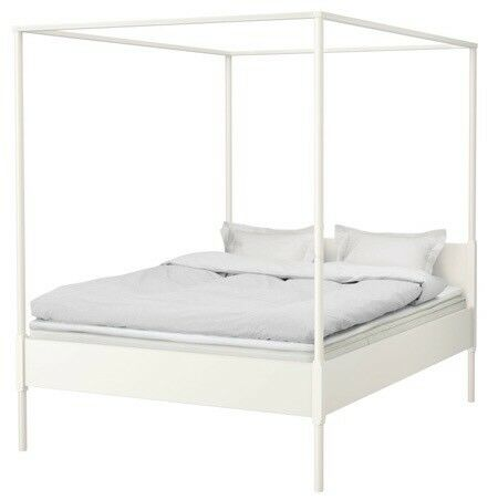 Ikea Edland white 4 poster bed | in Keyworth, Nottinghamshire | Gumtree