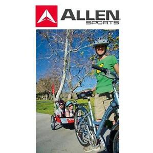 NEW AS STEEL BICYCYCLE TRAILER ALLEN SPORTS - 2 CHILD BIKE TRAILER 108428193
