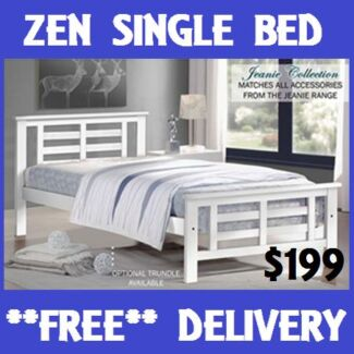 BRAND NEW Hardwood Timber SINGLE Bed - DELIVERED FREE!! New Farm Brisbane North East Preview