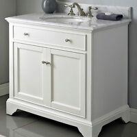 """Fairmont Designs Framingham 36"""" Vanity - Polar White (1502-V36)"""