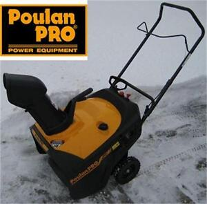 "NEW POULAN PRO 136CC GAS SNOW THROWER 21""  ELECTRIC START - SNOW BLOWER - 21 INCH - SNOW REMOVAL SHOVEL WINTER 77420919"