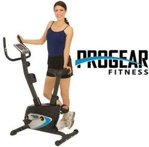 NEW* PROGEAR UPRIGHT EXERCISE BIKE WITH HEART PULSE MONITORING COMPACT SPORT FITNESS STRENGTHENING MUSCLE TRAINING