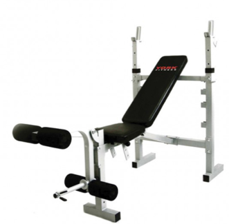 york 401 multi gym. york bench press with bar and weights 401 multi gym