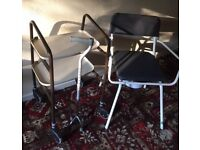 Disability items New Comode chair/ Walking trolley / walking aids