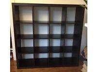 IKEA Kallax/Expedit 4x4 Black Brown Shelving Unit