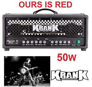 NEW KRANK 2CH TUBE GUITAR AMP HEAD Guitar Amp Head with Black Grill MUSICAL INSTRUMENT AMPLIFIER HEAD 104561636