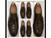 Men's Barker Hand Made English Full Leather Shoes In Brown. Great Condition. 9