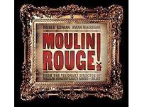 1X TICKET SECRET CINEMA MOULIN ROUGE; SATURDAY 15TH APRIL