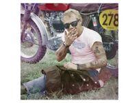JJ Adams. Signed limited edition print. 'Cooler King'. Steve McQueen