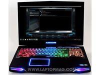 Alienware m17x Gaming Laptop with fan base (faulty battery)