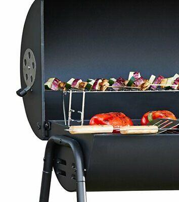 Home Charcoal Oil Drum BBQ Cover & Utensils - Outdoor Garden Food